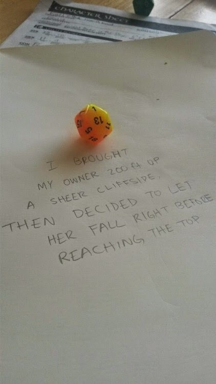 """ltalian: """" matt-meowstic: """" t3mp0r4ry: """" sirenknights: """" Dice Shaming """" Literally the best photoset I've ever seen on tumblr """" What the hell happened to the second to last one """" judgement """" More Dice Shaming! My kids have my luck it seems, either..."""