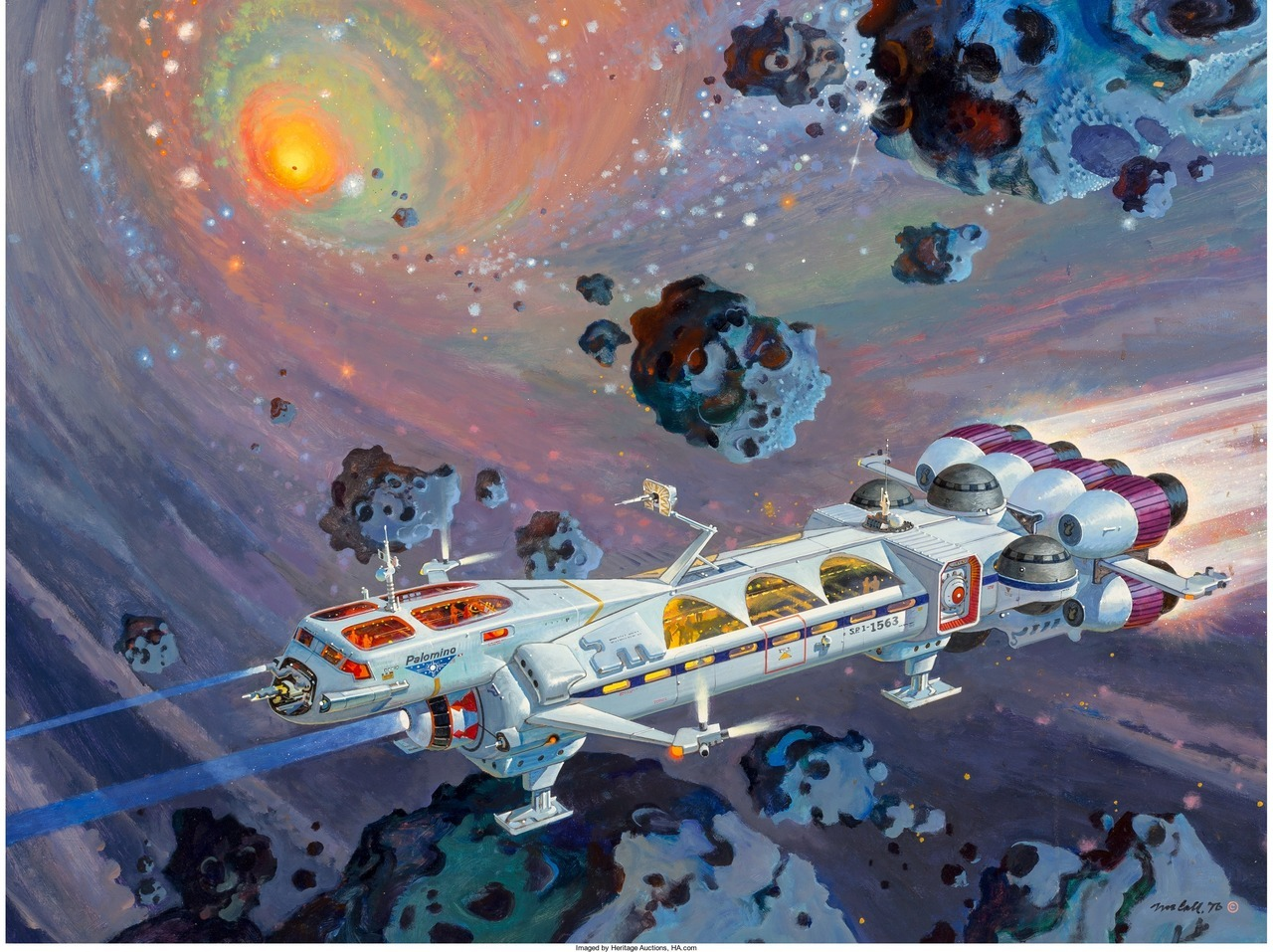 image of a space ship shooting