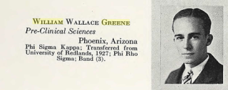 William Wallace Greene, 1929