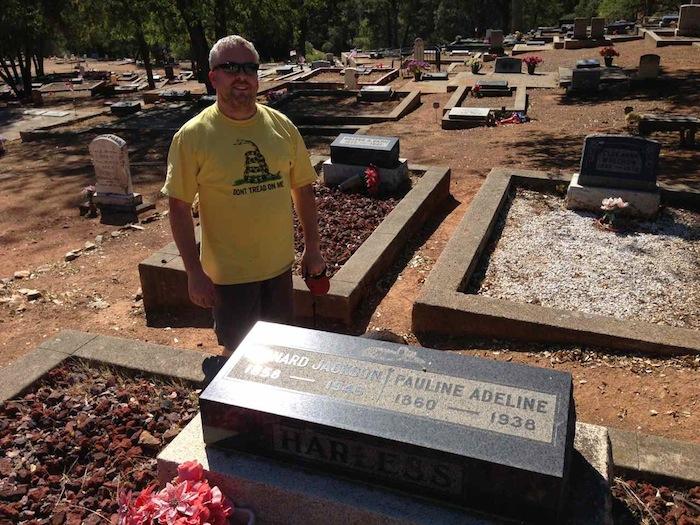 Headstone Leonard Jackson Harless and Pauline Adeline Gann