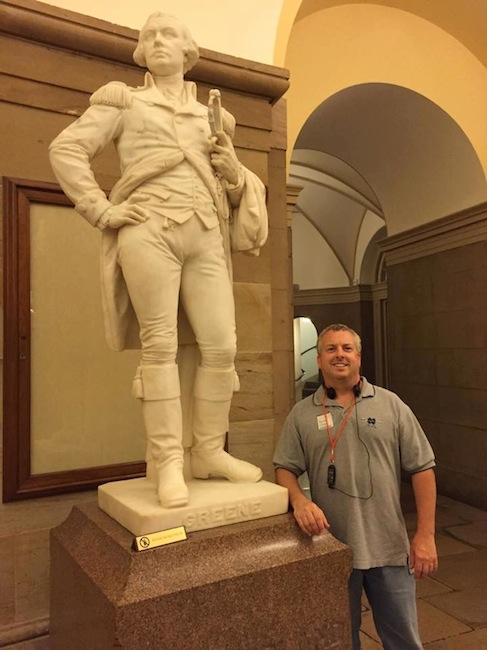 Jeff and  Nathanael Greene at US Capitol