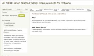 Robledo - 1800 US Census - Ancestry