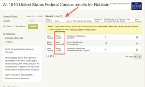 Robledo - 1810 US Census - Ancestry