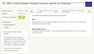 Robledo - 1820 US Census - Ancestry