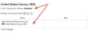 Robledo - 1820 US Census - FamilySearch