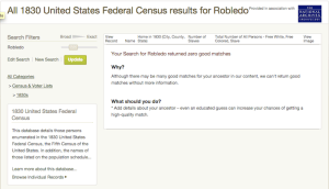 Robledo - 1830 US Census - Ancestry