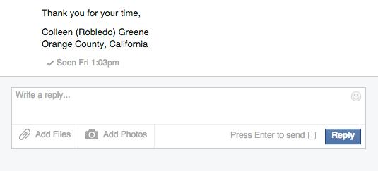 Facebook Message Inbox