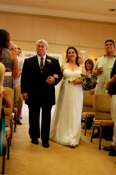 Colleen Robledo Bride and Dad Aisle