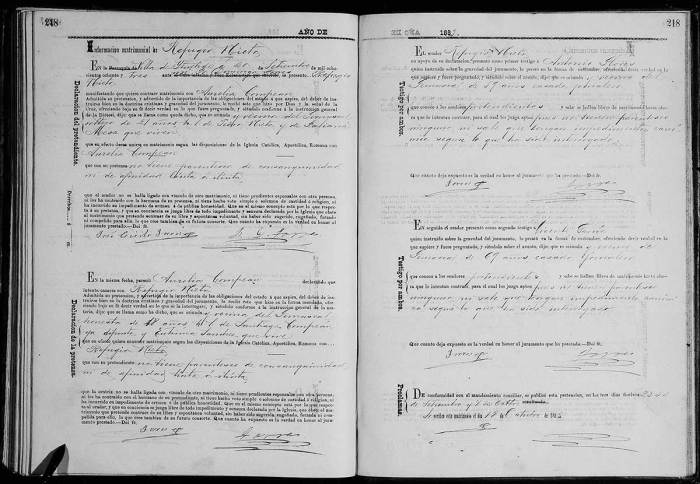 Nieto Refugio - Compean Aurelia - Marriage - 1883 - FamilySearch
