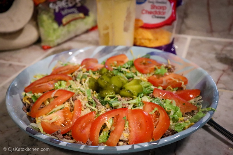 Low Carb Keto Big MAC salad