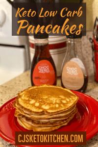 Keto Low Carb Pancakes Pinterest