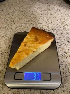 1/16 of Slice of Keto Cornbread