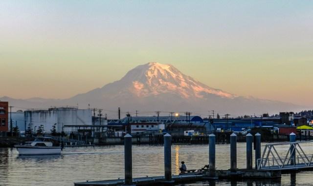 Mount Rainier at Sunset