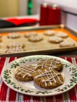 Keto Iced Gingerbread Cookies