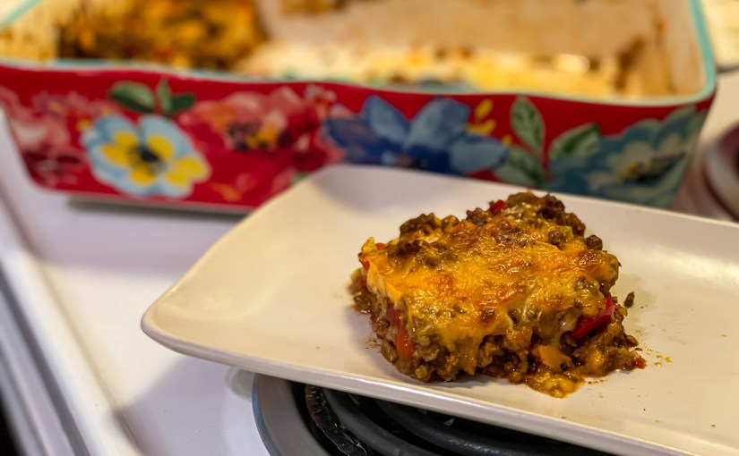 Keto Taco Stuffed Pepper Casserole-Quick, Easy, a Family Favorite!