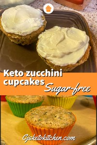 keto zucchini cupcakes with cream cheese frosting