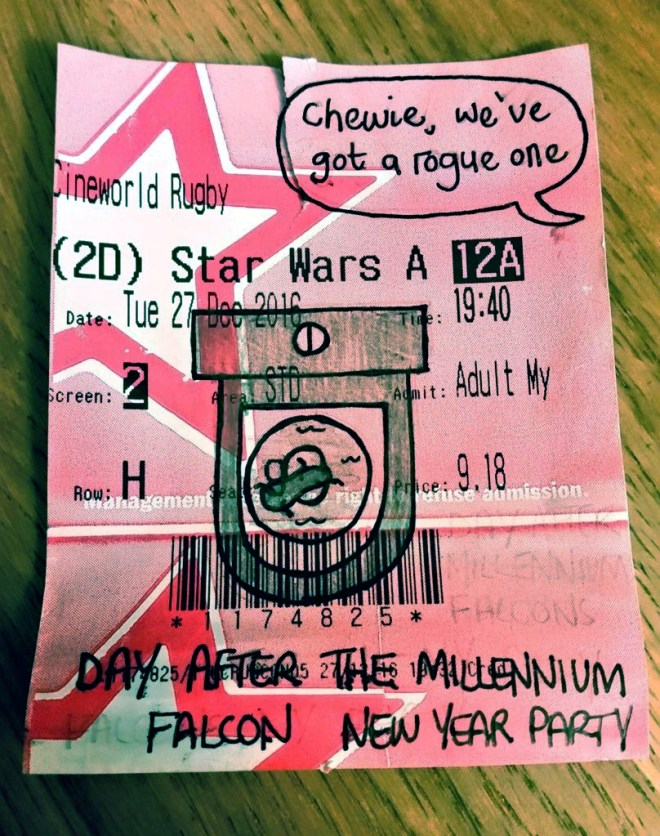 Star Wars Rogue One Cinema Ticket Cartoon