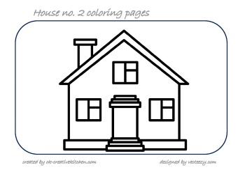 coloring pages of houses # 7