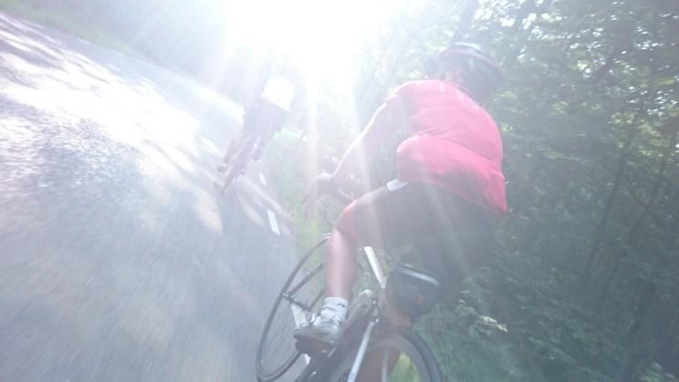 Cyklister i motljus
