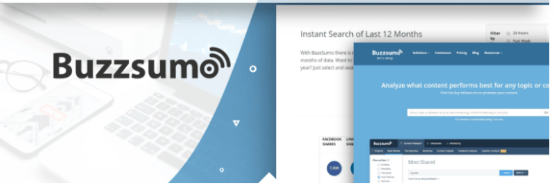 social media marketing tools - buzzsumo