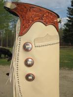 Wild Roses Carving, Pocket, Laced Conchos & Spots