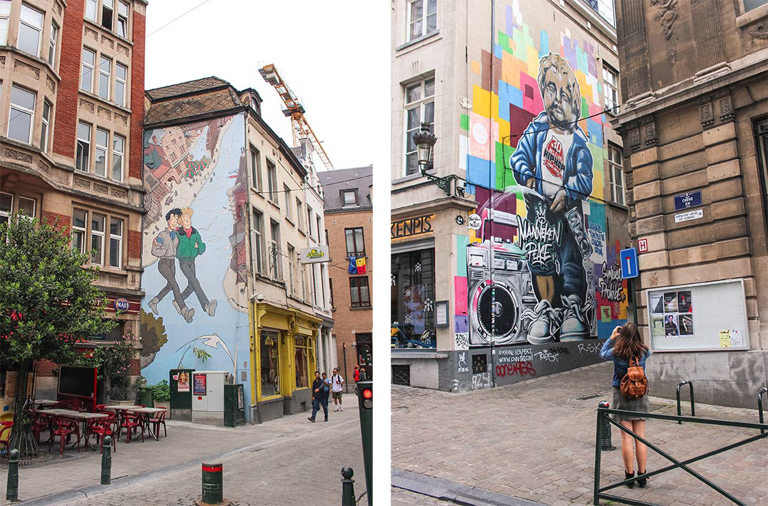 How to spend a weekend in Brussels, Belgium   Things to do   comic strip street art murals