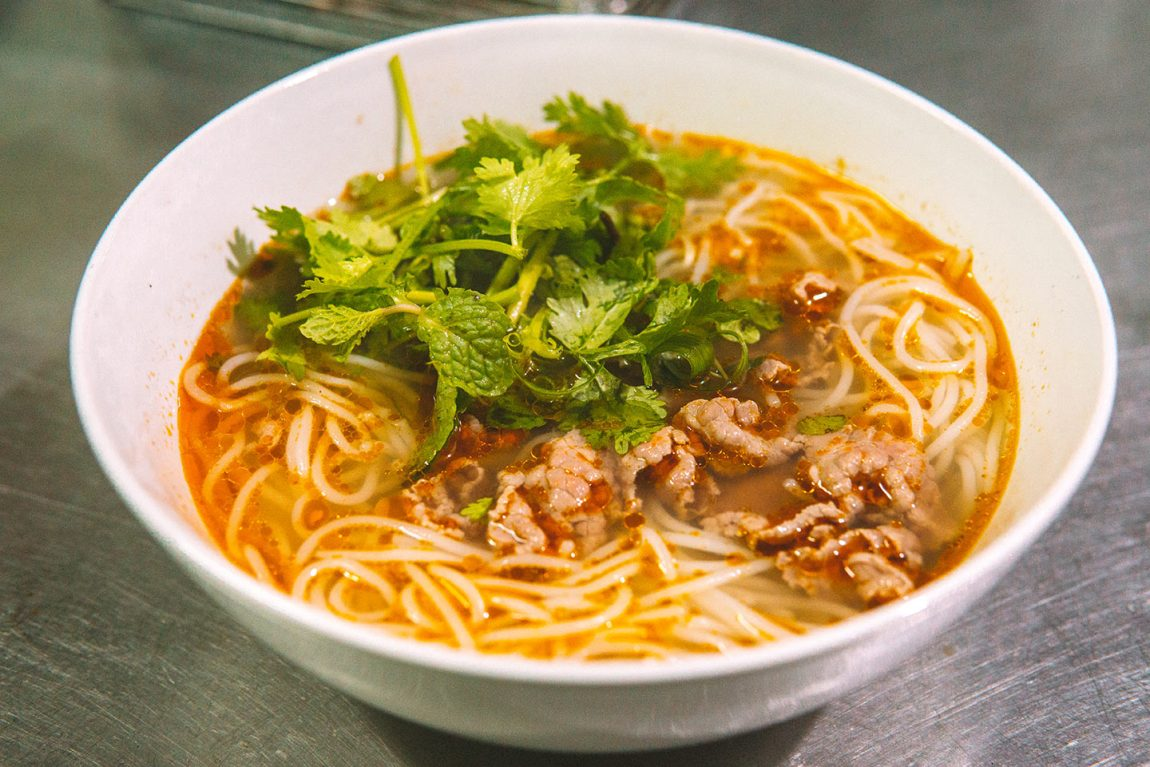The best street food to try in Hoi An, Vietnam blog post | bun beef noodle soup