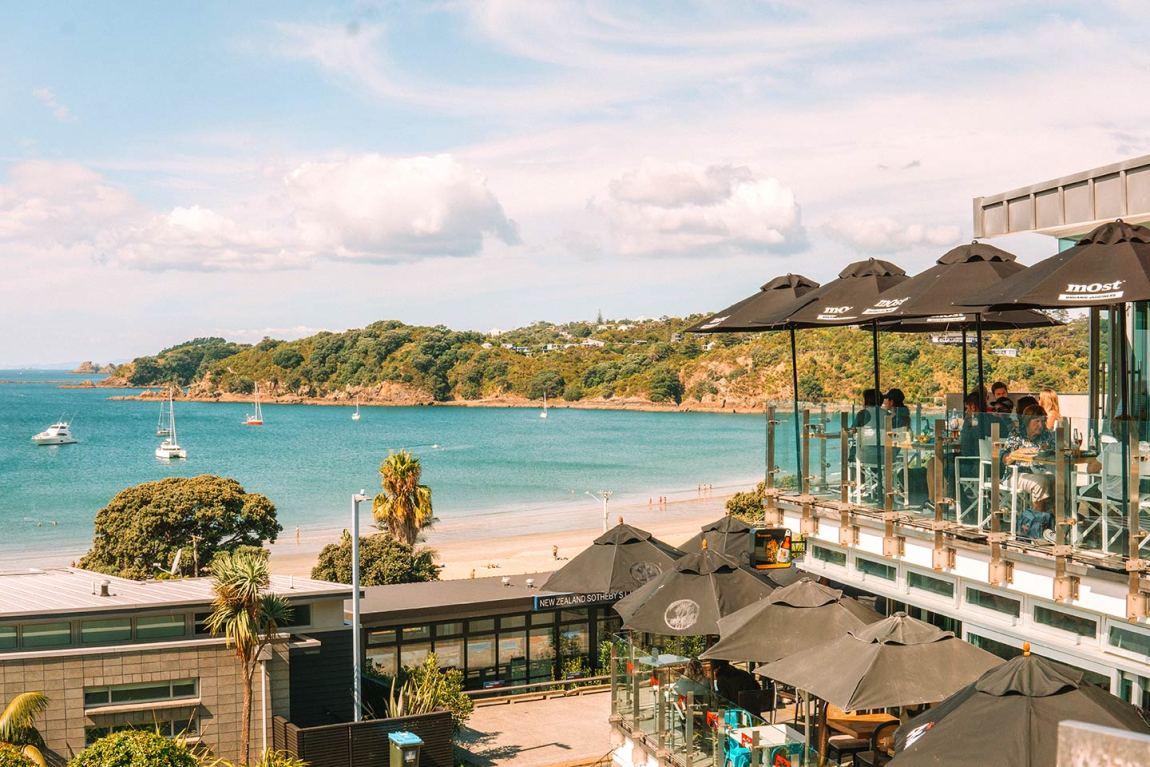 Oneroa village Waiheke Island New Zealand