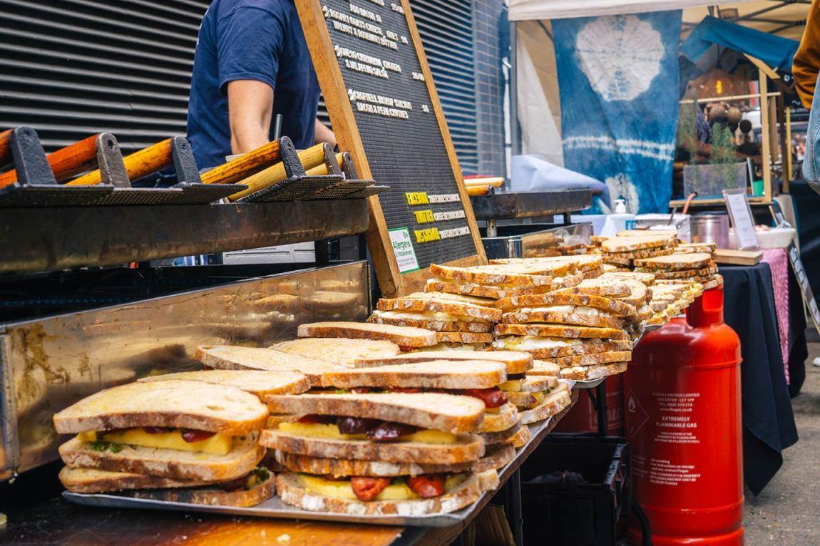 Grilled cheese sandwiches Maltby Street Market, Bermondsey London- Best Saturday markets in London