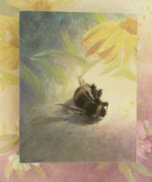 Hommel, olieverf op paneel, 10x8 cm, 2016 [verkocht]