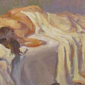 Liggend naakt, olieverf, 35x60 cm, 2014 [verkocht]