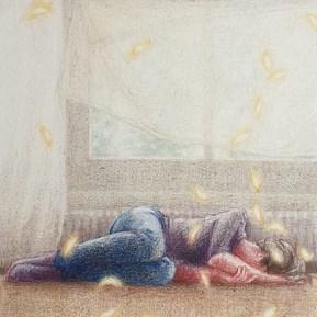 Hoop, kleurpotlood op papier, 12x10 cm, 2020 [particuliere collectie]