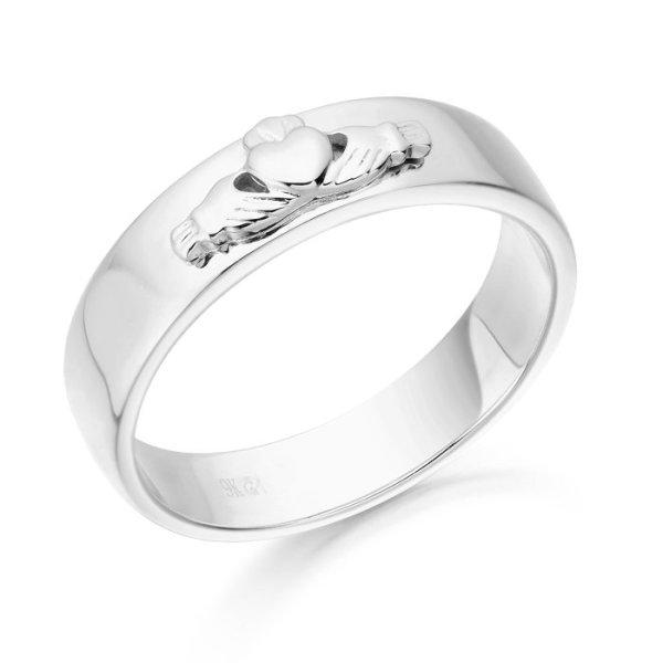 Claddagh Wedding Ring-CL22WCL