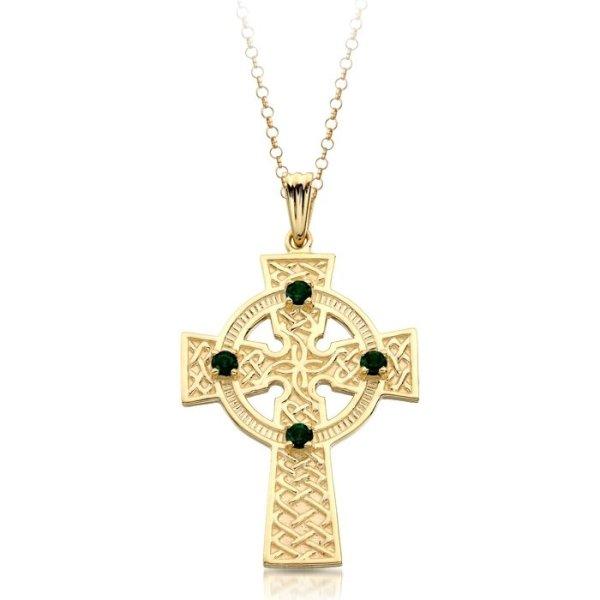 9ct Gold Celtic Cross - C02CL