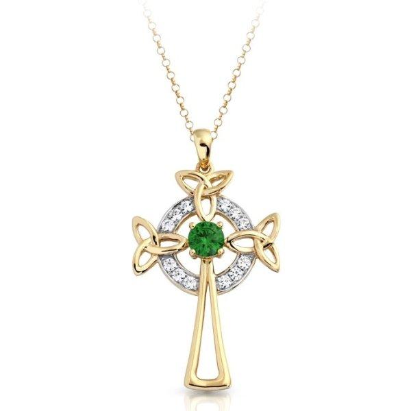 9K Gold Celtic Cross-C01CL