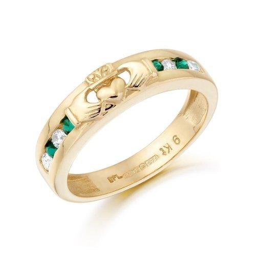 9ct Gold Claddagh Wedding Ring - CL27GCL