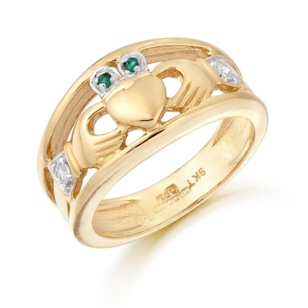 Ladies Claddagh Ring-CL21GCL