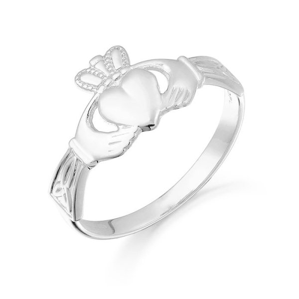 Gold Claddagh Ring-CL24WCL