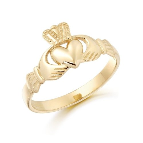 Gold Claddagh Ring.