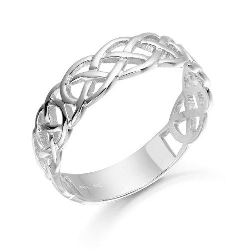 White Gold Celtic Ring