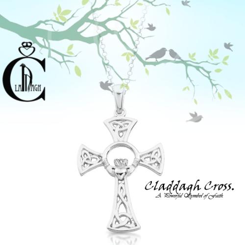 Silver Claddagh Crosses