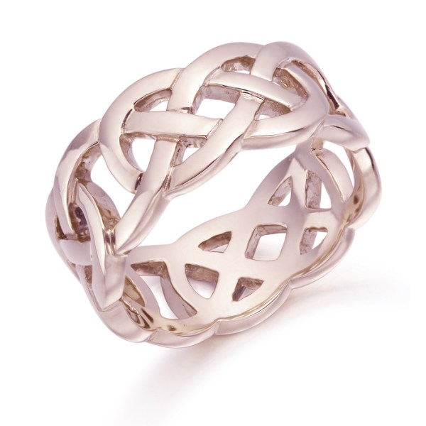 Rose Gold Celtic Wedding Ring - 1519RCL