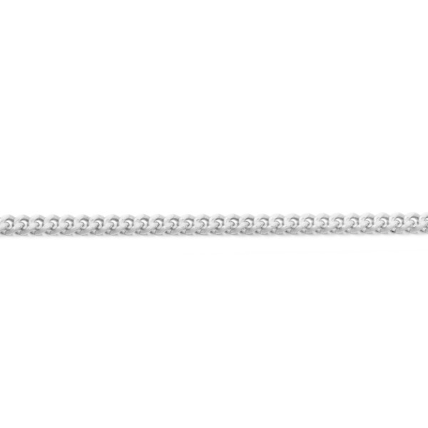 9ct White Gold Curb Chain-DC40WCL