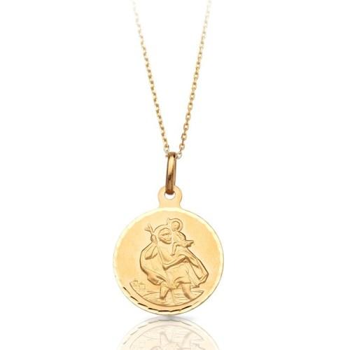 9ct Gold Saint Christopher Medal - J39CL