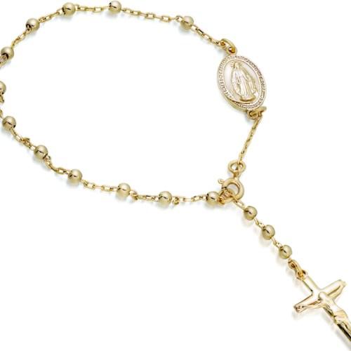 9ct Gold Rosery Bead Bracelet-RBB3CL