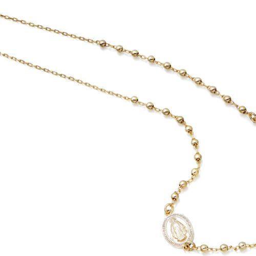 9ct Gold Rosery Bead Necklace-RBN2CL
