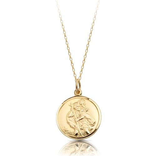 9ct Gold Saint Christopher Medal Pendant - ST4CL