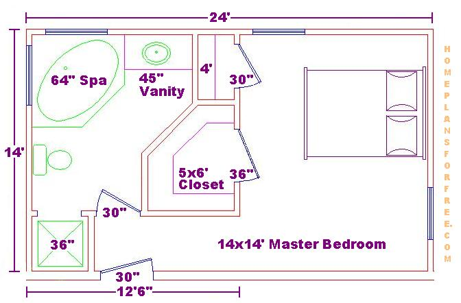 Walk in closet and bathroom floor plans roselawnlutheran for Master bathroom floor plans with walk in closet