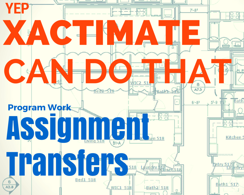 Direct Assignment Transfer via XactAnalysis – Yep, you can do that.