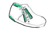 dessin de chaussure enfant vert